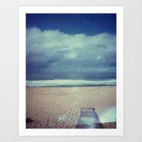 Tura Beach, Polaroid Art Print