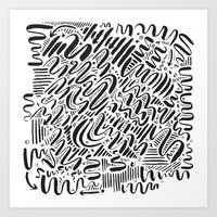 SQUIGGLY WIGGLY Art Print