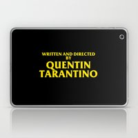 Written And Directed By Quentin Tarantino Laptop & iPad Skin