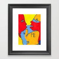 Me To You / Color Framed Art Print