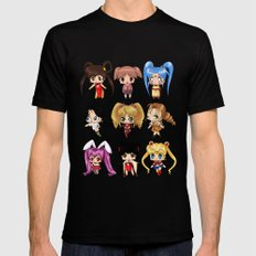 Anime Pigtails Mens Fitted Tee Black SMALL