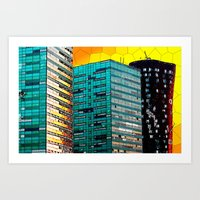 Gran Via Sunset Art Print