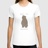 Bears Are Awesome  Womens Fitted Tee White MEDIUM