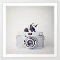 The Panda and The Ikonette Art Print
