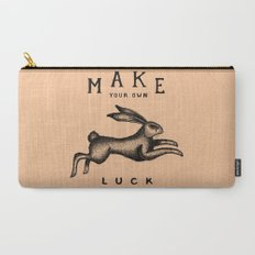 MAKE YOUR OWN LUCK (Coral) Carry-All Pouch