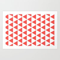 Sleyer Pink on White Pattern Art Print