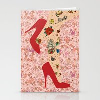 Red Walk Stationery Cards
