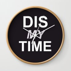 Dis My Clothing Line Wall Clock
