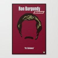 Ron Burgundy: Anchorman Canvas Print