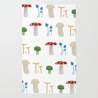 Mushroom Pattern  Rug