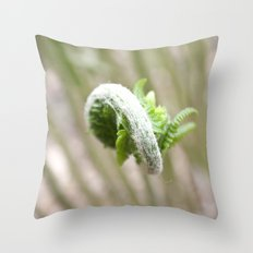 Fiddlehead Abstract Throw Pillow