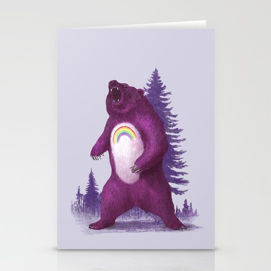 Scare Bear Stationery Card