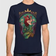 Sous La Mer Mens Fitted Tee Navy SMALL