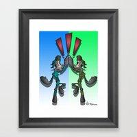 Super Snake Bros Framed Art Print