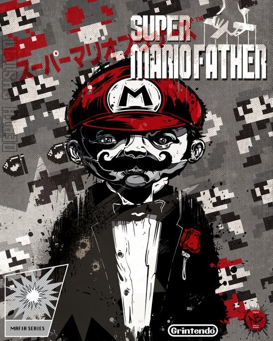 Super Mario Father Canvas Print
