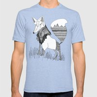 Feeling Foxy Mens Fitted Tee Tri-Blue SMALL