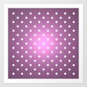 Polka Party Radiant Orchid Art Print