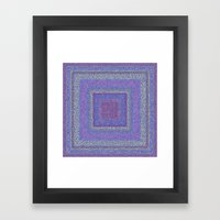 Violet Squares Framed Art Print