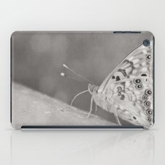 Paused (Butterfly, Black & White) iPad Case