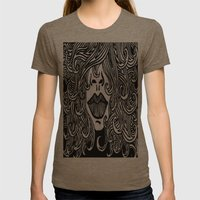 Hair with Lips Womens Fitted Tee Tri-Coffee SMALL