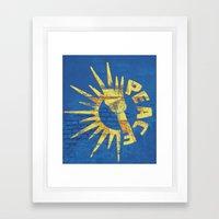 Moar Peace Framed Art Print
