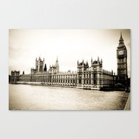 Big Ben And The Houses O… Canvas Print