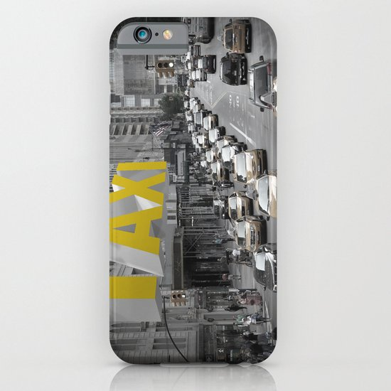 New York Taxi in the air iPhone & iPod Case