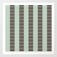 Tan Black Mint Checkerbo… Art Print