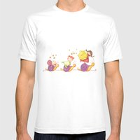 Babies in a snails Mens Fitted Tee White SMALL