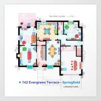 The House Of Simpson Fam… Art Print
