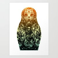 day of the dead matryoshka Art Print