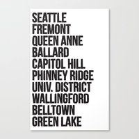 SEATTLE CITIES Canvas Print