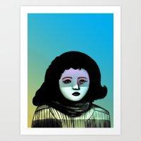Miss F.  Art Print