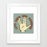 LIVE LONG AND PROSPER! - Star Trek Framed Art Print