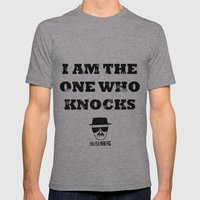 Heisenberg - The One Who Knocks Mens Fitted Tee Athletic Grey SMALL