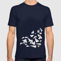 Paper Planes Mens Fitted Tee Navy SMALL