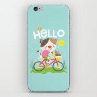 Cat On A Bike iPhone & iPod Skin
