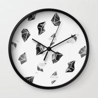 Marble Fragments Wall Clock