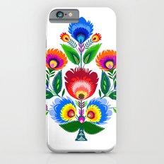 colorful folk flowers Slim Case iPhone 6s