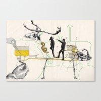 Schéma D'alimentation E… Canvas Print
