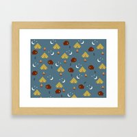 Camping Friends Framed Art Print