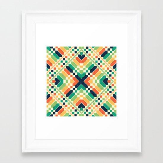 Retrographic Framed Art Print