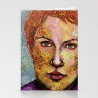 Map self portrait Stationery Cards