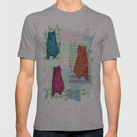 Cute little bears Mens Fitted Tee Athletic Grey SMALL