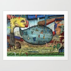 The Stagnant Pool Art Print