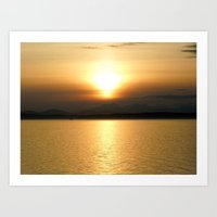 Golden Sunset Art Print