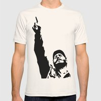 Fidel Castro Mens Fitted Tee Natural SMALL
