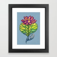 Lotus in Love Framed Art Print