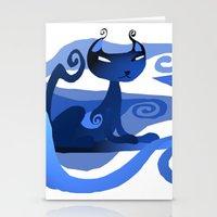 A Spirally Cat  Stationery Cards