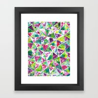 COLLAGE LOVE: Funky Triangles Framed Art Print